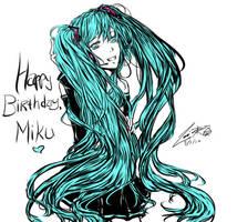 Happy Birthday Miku by dairytea