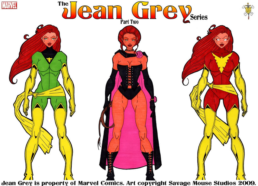 how to draw jean grey