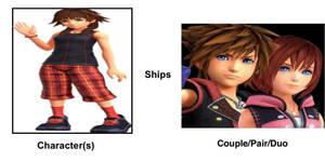 Olette Ships Sora and Kairi.
