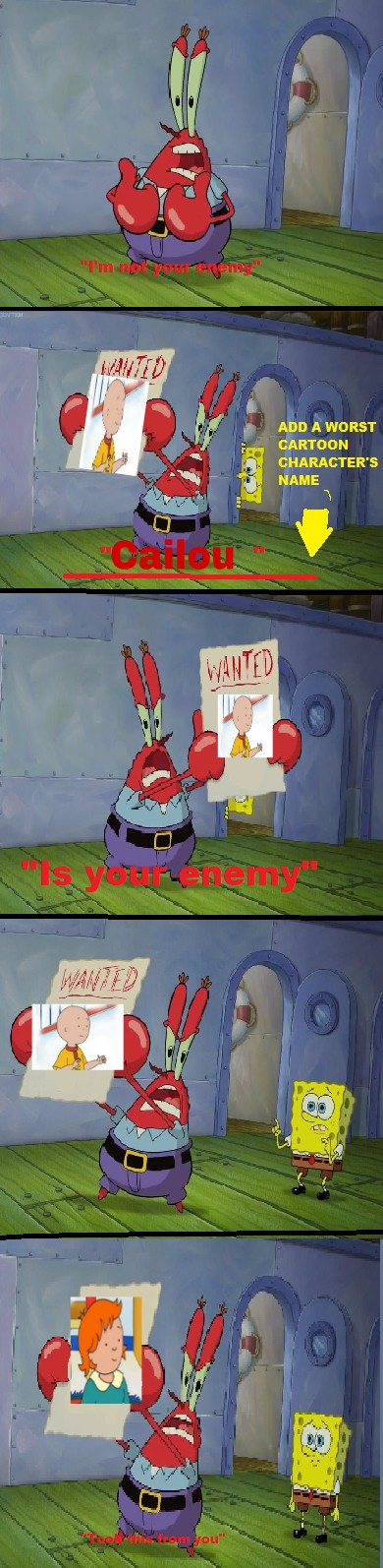Mr  Krabs Reveals Cailou As The Enemy Not Rosie  by