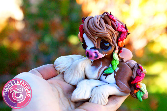 Autumn Leaves Gypsy Pony Sculpture by crystalcookart