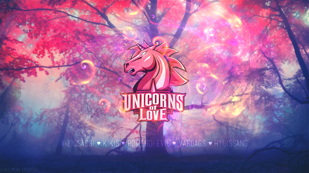 unicorns of love wallpaper by halcyondesign on deviantart