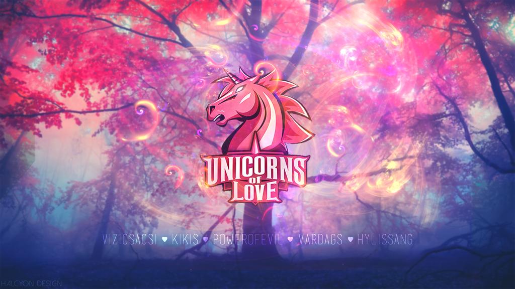 Unicorns Of Love - Wallpaper by HalcyonDesign on DeviantArt  Unicorns Of Lov...