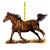 Running Horse Ornament by equusrevelrous