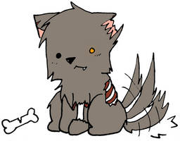 Fluffy the Hellhound by veroveroable