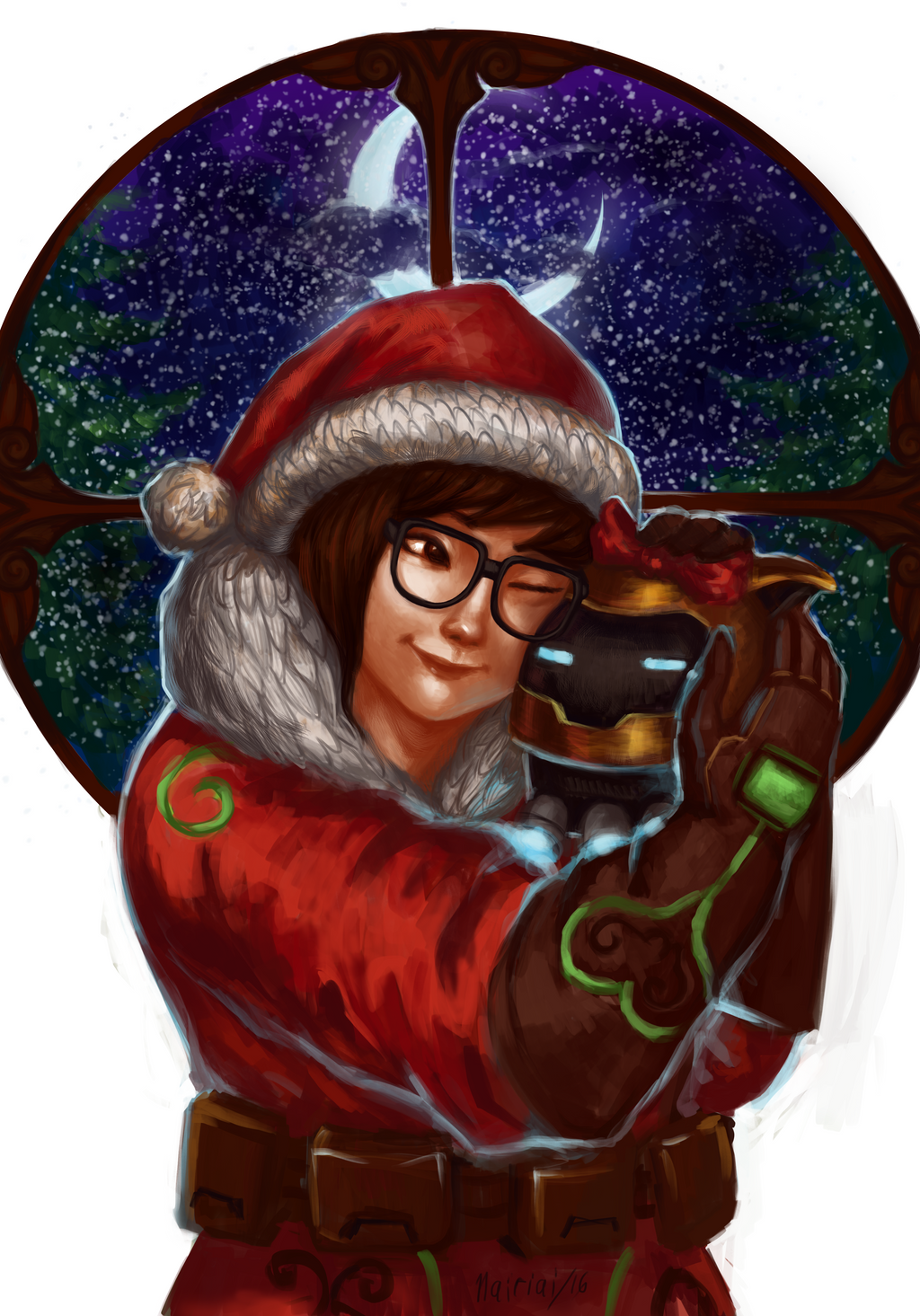 Overwatch christmas mei by nairiai on deviantart - Overwatch christmas wallpaper ...