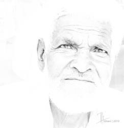 Man in White by ze3ko