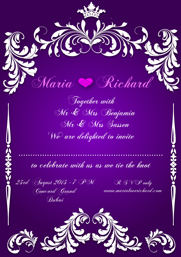 Wedding Invitation Card design by ziyaaf on DeviantArt