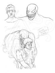 Venom x Eddie - traditional art by Seirykun