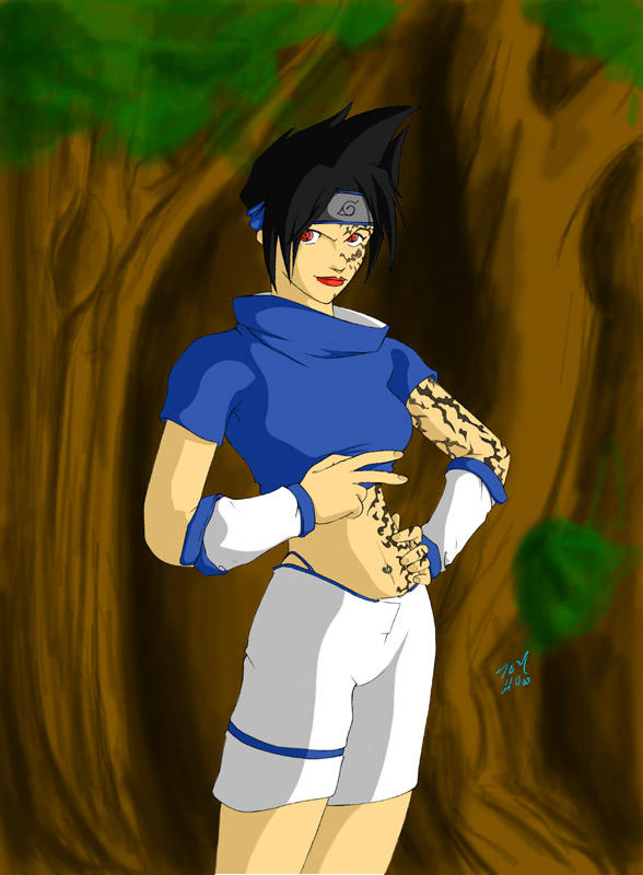 Fem Sasuke by IsamuDyson