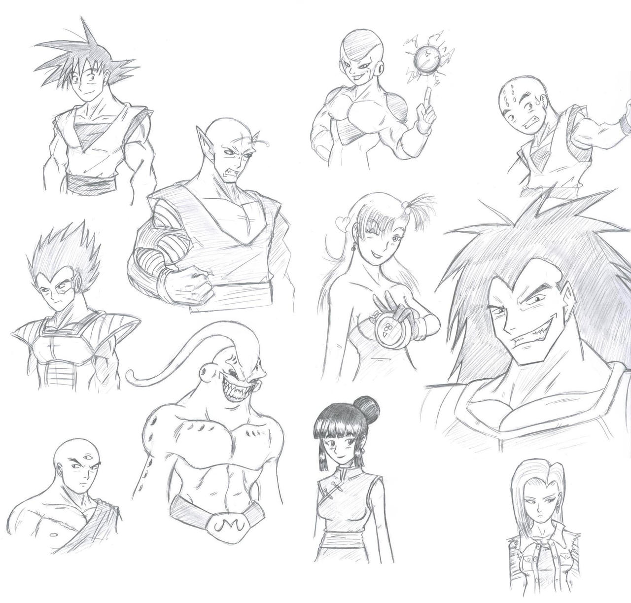 Exceptionnel DBZ characters in my style by ChaosGhidorah on DeviantArt NM44