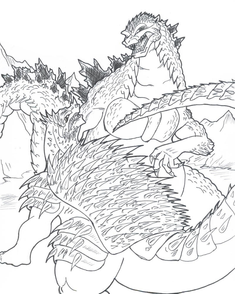mobile  godzilla vs muto coloring pages coloring pages