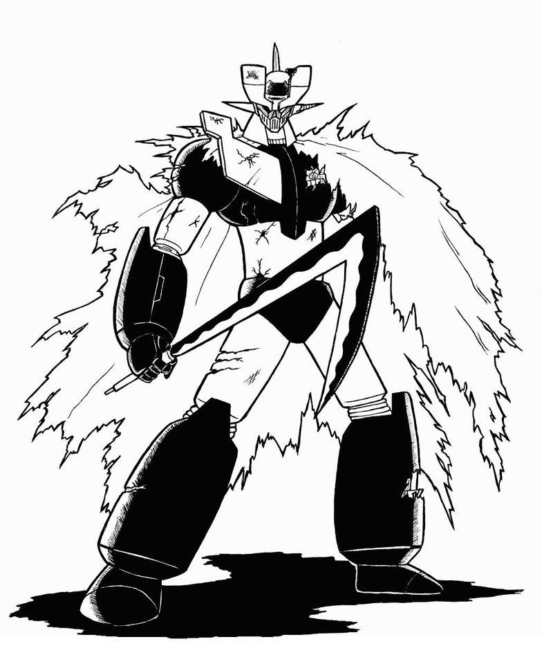 Battle Damaged Mazinger Z by ChaosGhidorah on DeviantArt