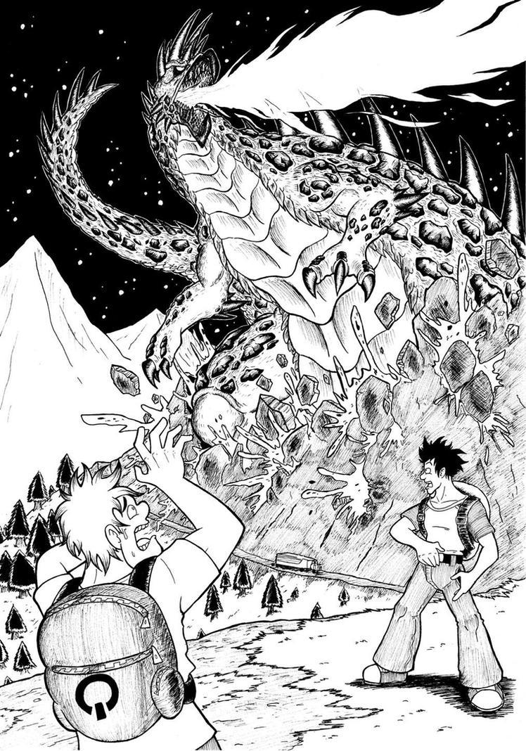 Giant monsters in black n white 3/3 by ChaosGhidorah