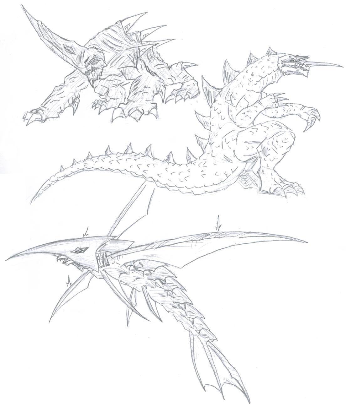 gamera enemies  by chaosghidorah on deviantart