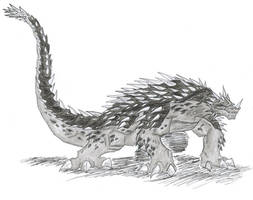 Legendary Monster Anguirus. by ChaosGhidorah