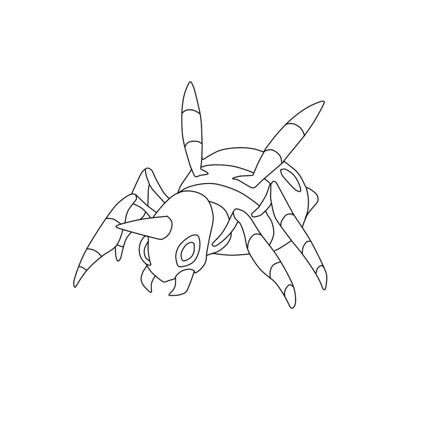 Pokemon coloring pages ariados - Ariados Coloring Page By Frostythefroslass