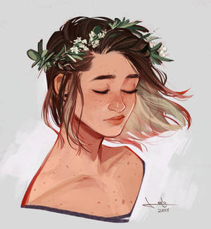 Flowers in her hair
