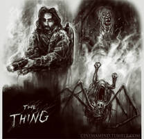 The Thing sketches by cinemamind