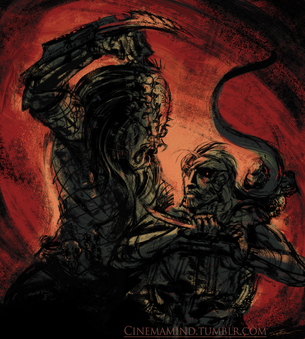 Predator vs. Snake by cinemamind