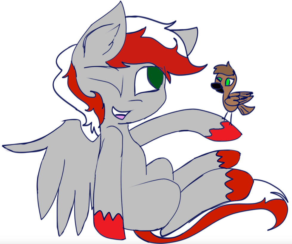 Knight fire and a bird! by FireAndRose