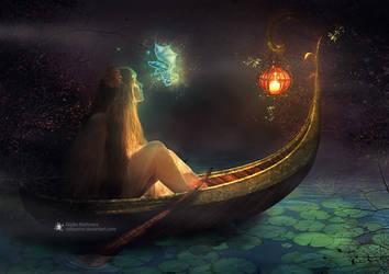 Little dragon of the enchanted lake