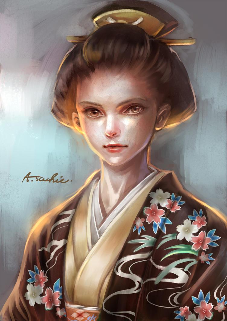 Women of old kimono by anzaisachie