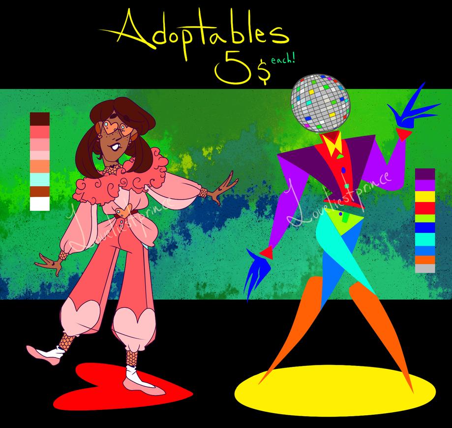 disco adoptables! (open) by Loveliestprince