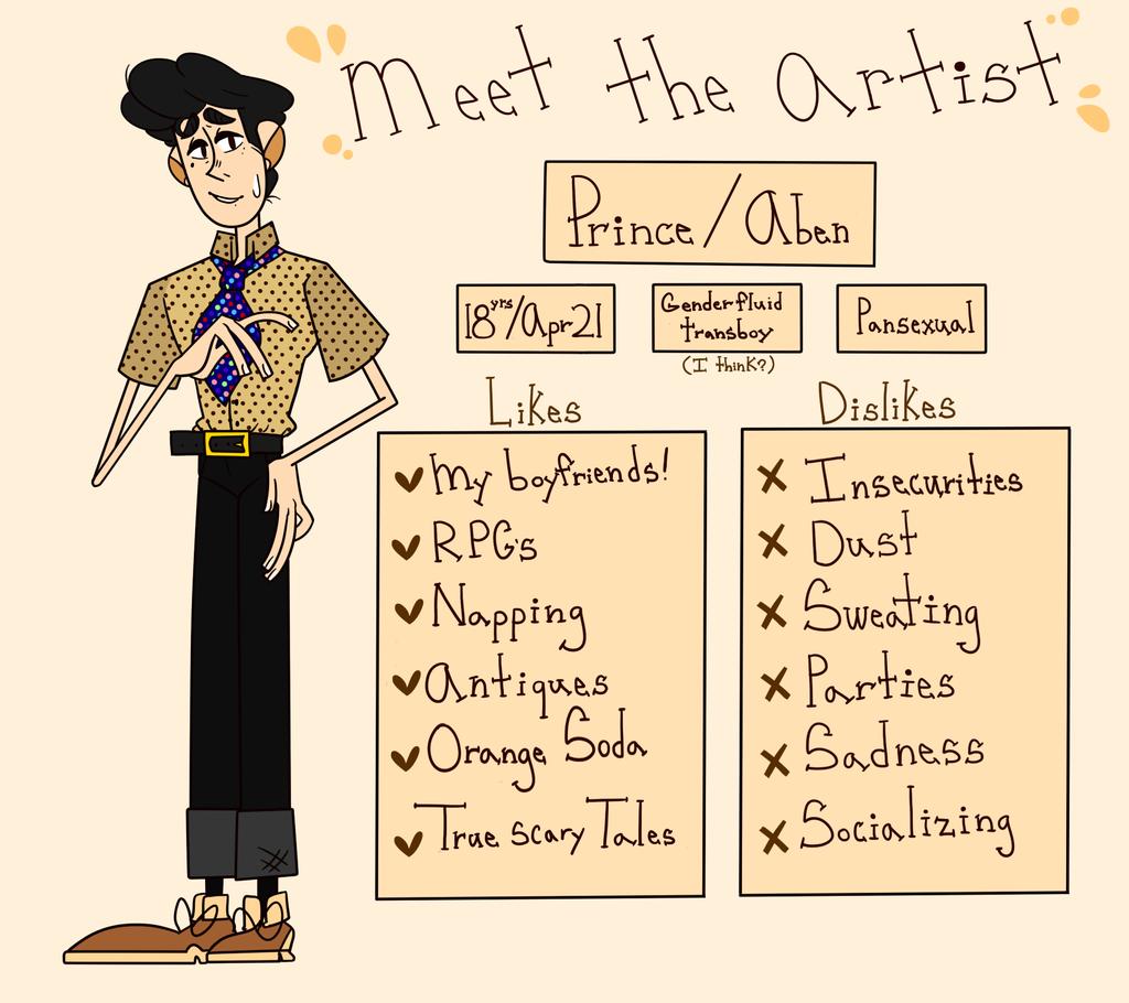 Meet the artist by Loveliestprince