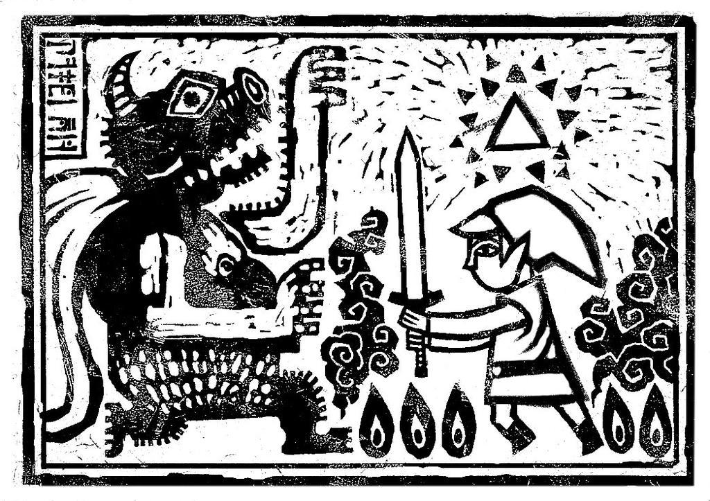 Zelda Wind Waker Coloring Page By Soie Yoie