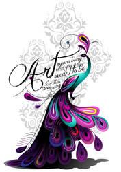 Art Peacock Tattoo by Ivyswoman