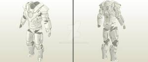 Iron Man 3 Mk17 Heartbreaker armor by MrTropical
