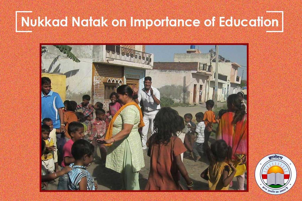 Nukkad Natak On Importance Of Education By GyanodayMeerut