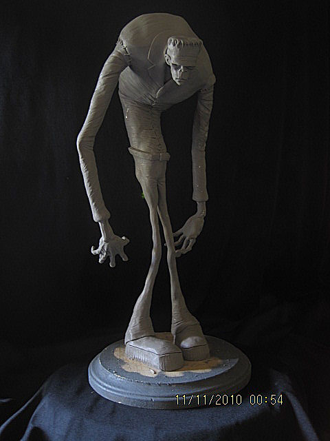 Frankenstein Stylized WIP by Blairsculpture