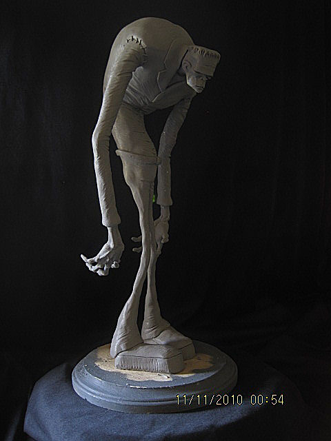Frankenstein Stylized WIP 1 by Blairsculpture