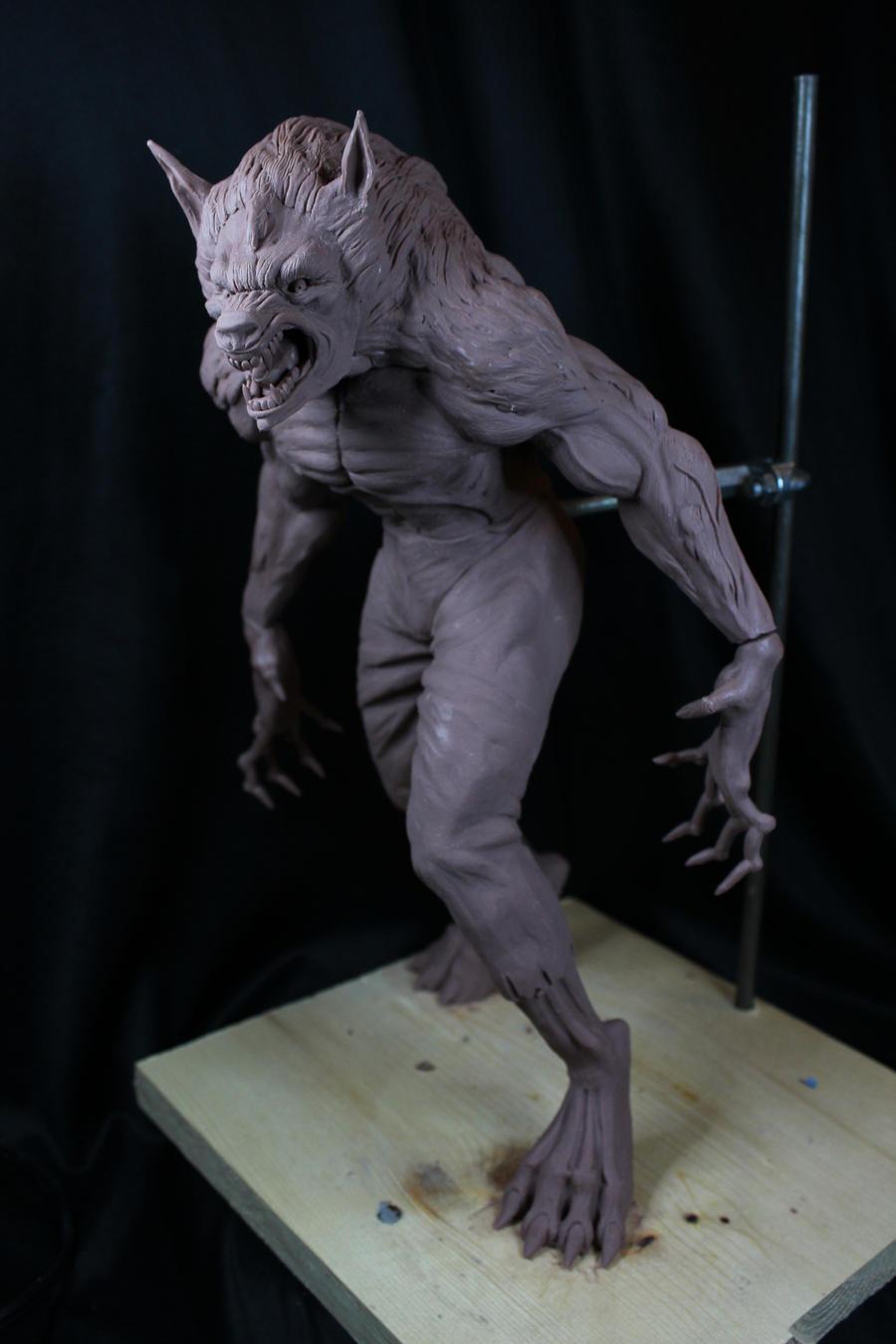 Werewolf WIP by Blairsculpture