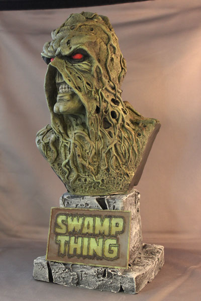 Swamp Thing Bust Finished! by Blairsculpture