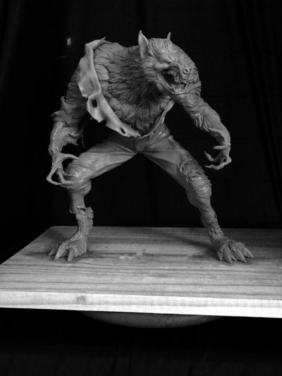 Werewolf-finished-8 by Blairsculpture