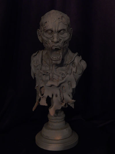 Zombie-bust-primed-1 by Blairsculpture