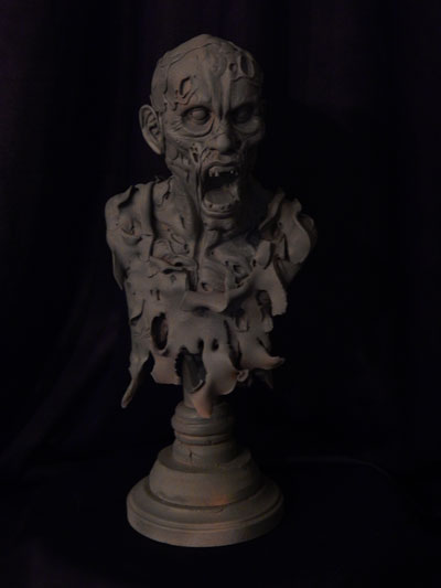 Zombie-bust-primed-2 by Blairsculpture