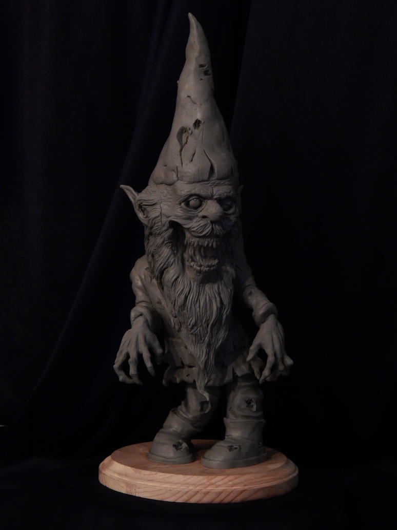 Zombie Garden Gnome WIP by Blairsculpture