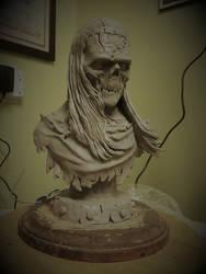 Frankenstein bust by Blairsculpture