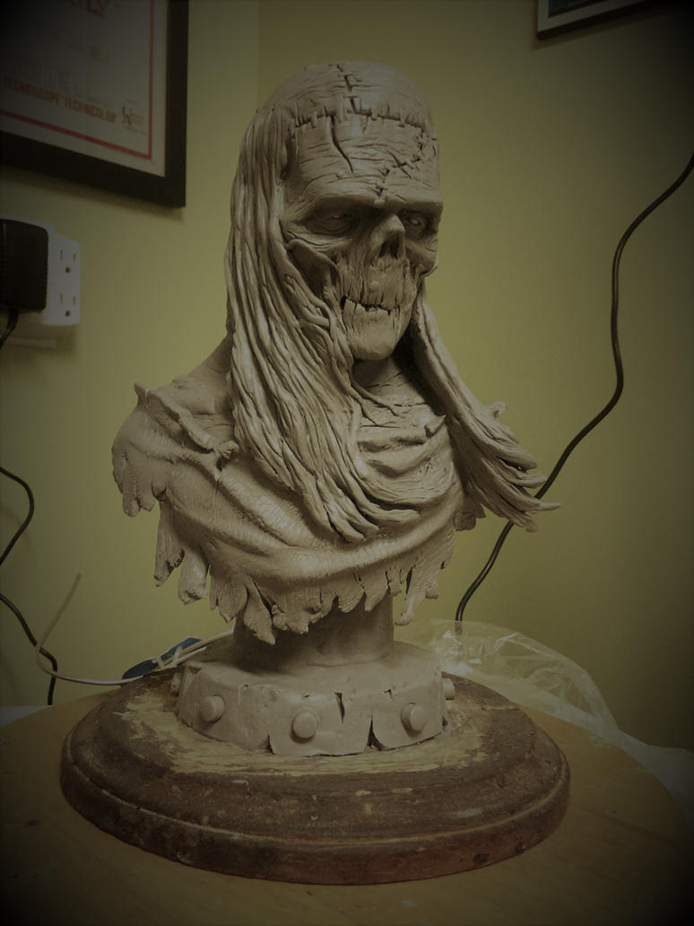 Frankenstein bust by Blairsculpture
