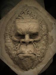 Sasquatch Wall plaque by Blairsculpture
