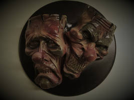 Evil Clown Comedy and Tragedy Wall Plaque