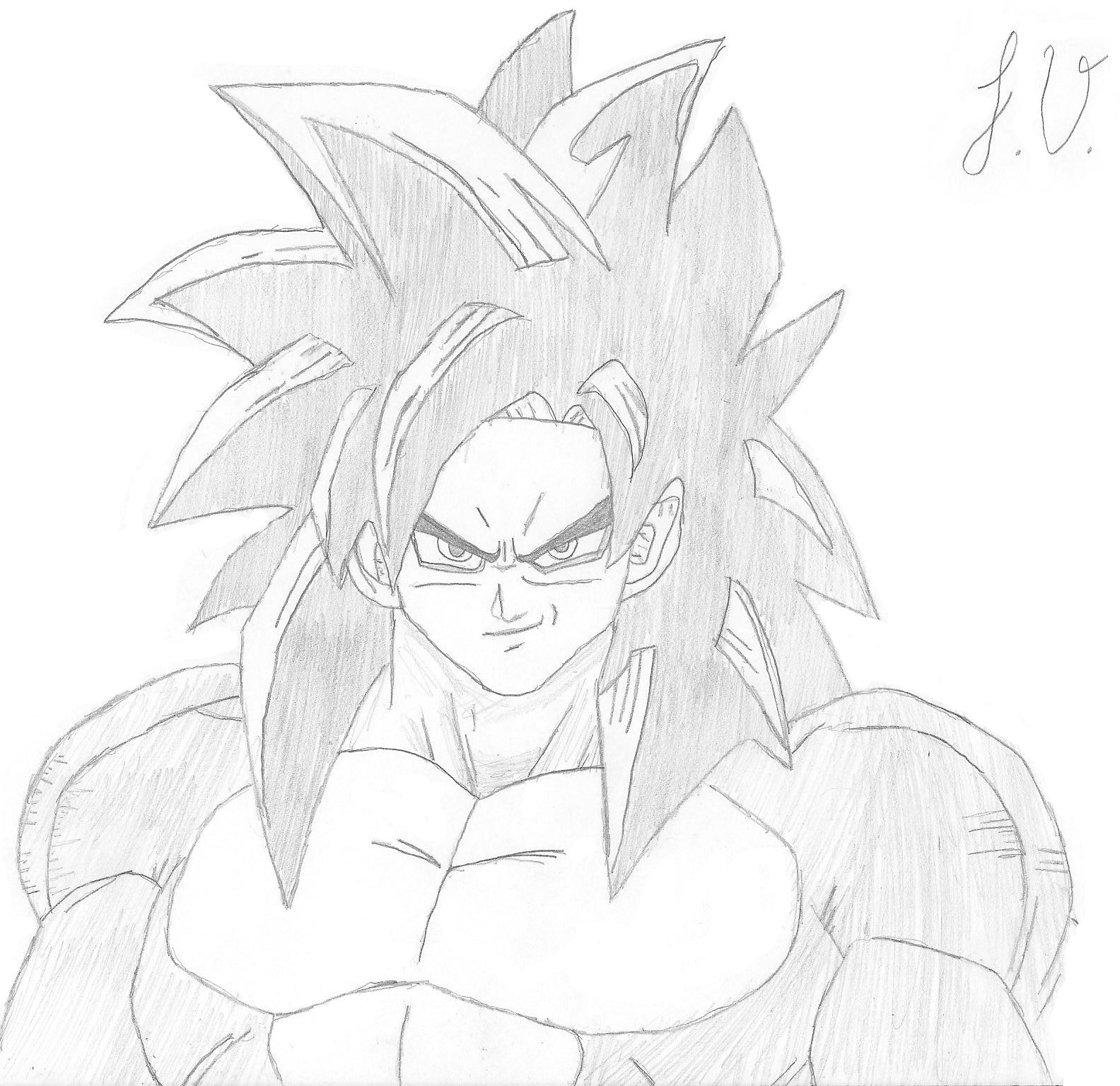 Goku Ssj4 By Johnnydavila On Deviantart