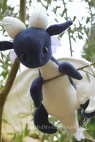 Plush Blue Dragon Baby by MyBeautifulMonsters