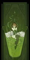 Art Nouveau Absinthe Poster by MyBeautifulMonsters