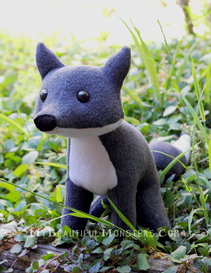 Grey Fox Plush by MyBeautifulMonsters