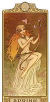 Nightfall - Spring:Art Nouveau ElfQuest